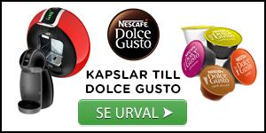Urval av kaffekapslar till Dolce Gusto