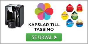 Urval av kaffekapslar till Tassimo